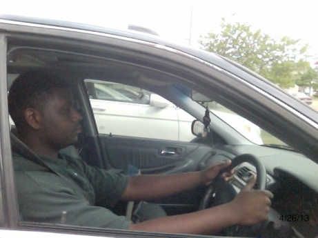 4/26/13 Photo by Teresa Wilson- 18 –year- old Montrel Davis is a driver's education student at Tupelo High School.