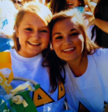Bid Day at Tri Delta, 2011. Ellen Kerce and Elizabeth Murphy