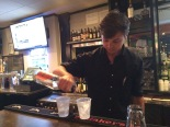 Locals Bartender pouring drinks