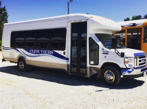 Safe Ride partners with Cline Tours to ensure students get home safely from the Oxford Square.  Photo by Mallory Box, April 28, 2015